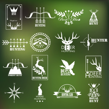 hunting: Hunting club label collecton. Vector.  Elements and labels design.