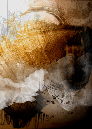 corrode: Grunge painted background. Vector illustration