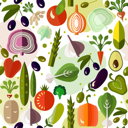 Bright colorful pattern with vegetables. Banco de Imagens - 40349381
