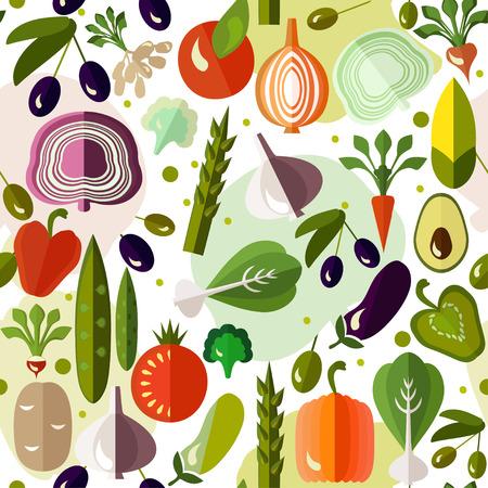 Helle bunte Muster mit Gemüse.