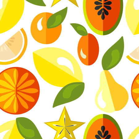 juicy: Pattern with juicy fruits. vector illustrations