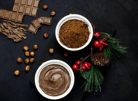 Chocolate nut paste for breakfast Zdjęcie Seryjne