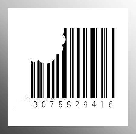 Barcode eat Stock Photo