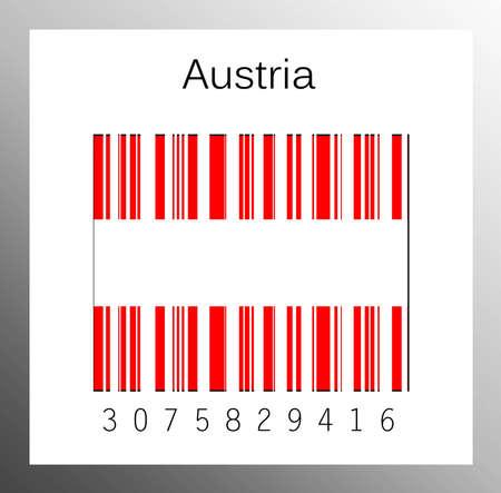 Barcode Austria Stock Photo