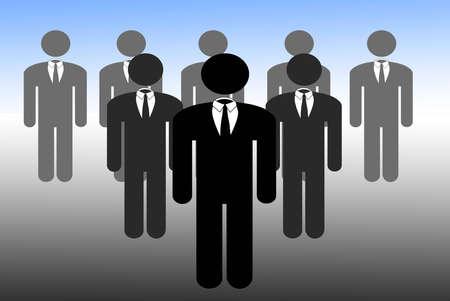 Men in suits standing in a row