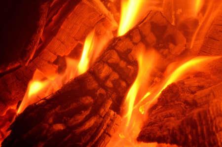 Burning wood crown