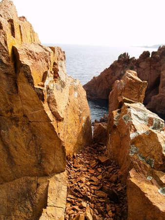 Stones near the sea Stock Photo