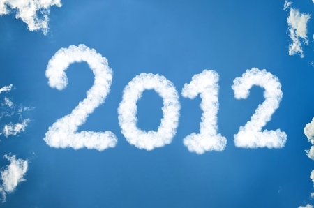 The year 2012 in heaven Stock Photo