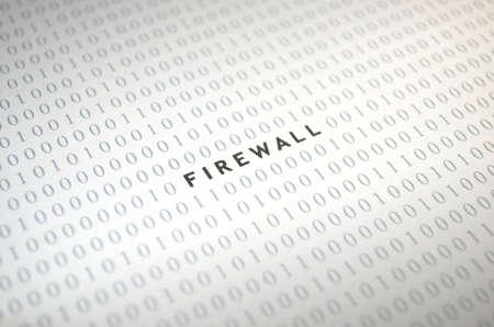 Firewall with binary code