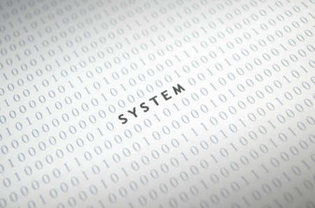 System with binary code
