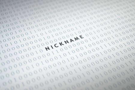 Nickname with binary code