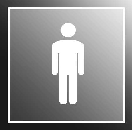 a Symbol of a Man in grey Stock Photo