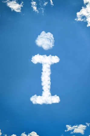 information symbol made out of clouds