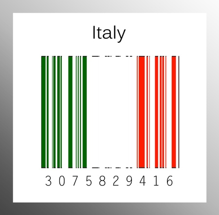 stocktaking: Barcode italy Stock Photo