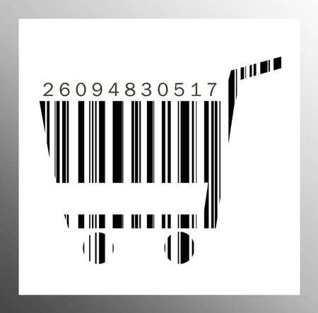 Barcode cart Stock Photo - 15942014