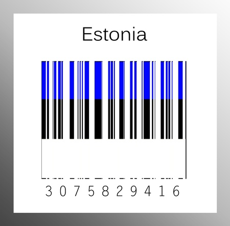 barcode estonia Stock Photo - 15936680