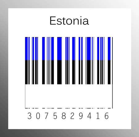 barcode estonia Stock Photo - 15936680