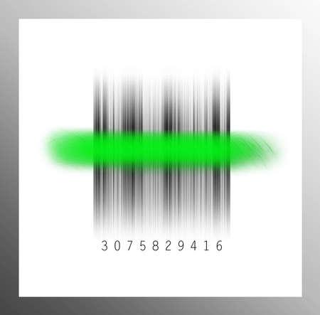 stocktaking: Barcode fine Stock Photo