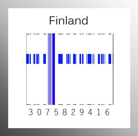Barcode finland Stock Photo