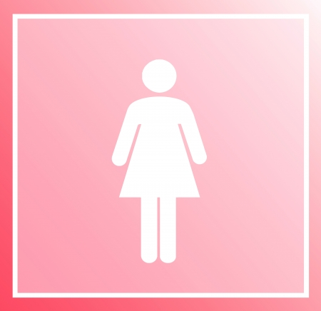 Woman symbol pink