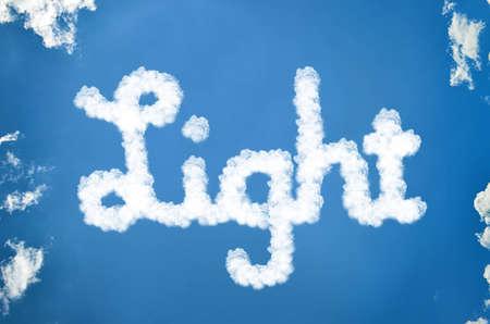 Light clouds of written Stock Photo