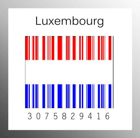 Barcode Luxembourg Stock Photo