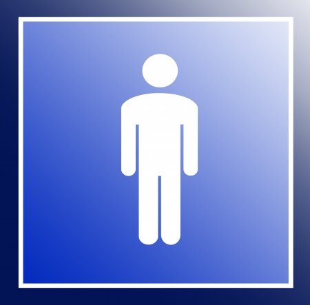 Symbol man Stock Photo