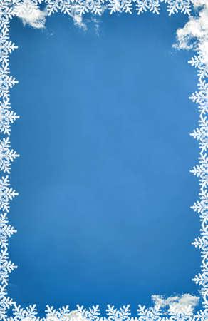 Snowflakes frame
