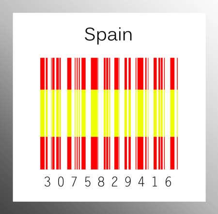Barcode Spain Stock Photo - 15936622