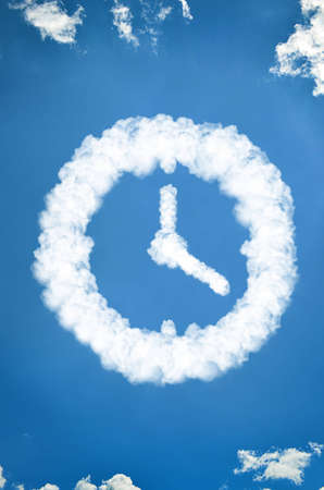 Clock made of clouds