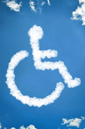 Disabled icon of clouds photo