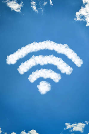 Wifi icon of clouds