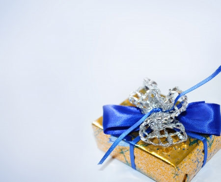 blue gift with space for text