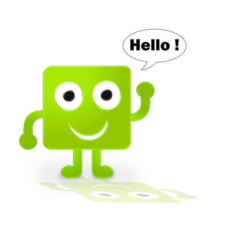 Figure says hello