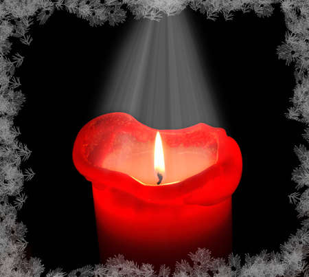 For christmas candle Stock Photo