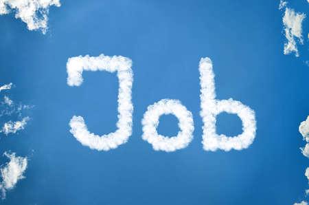 Job written in clouds