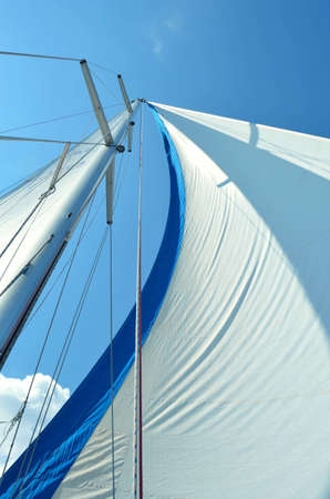 Sails on a sail boat