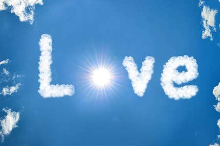 love written in clouds Stock Photo