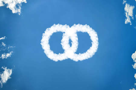 Rings of clouds Stock Photo