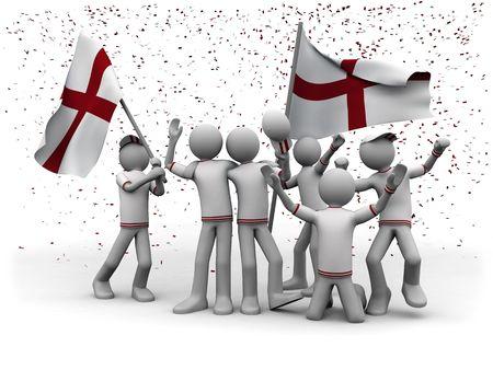 elation: english football fans celebrating