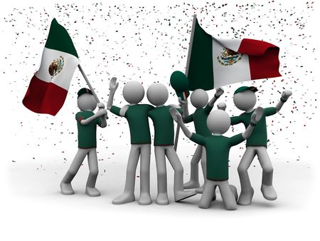 mexican football fans celebrating photo