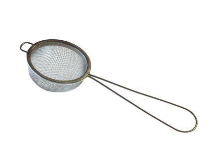 pot hole: Sieve (kitchen accessory to separate substances) Stock Photo