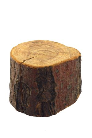 crosscut: Piece of wood, isolated