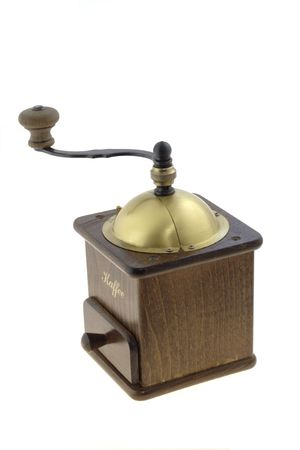 Hand coffee mill isolated on white Stock Photo - 2531345