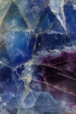 cabochon: Pattern of blue-violet fluorite mineral