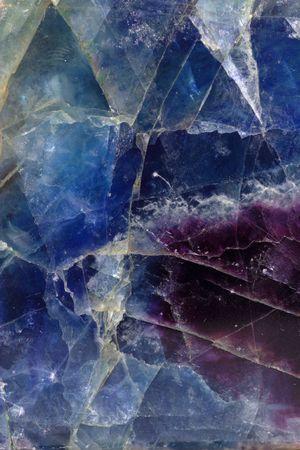 fluoride: Plan de azul-violeta mineral fluorita  Foto de archivo