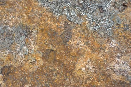 oxidized: Texture of rusty mineral containing iron