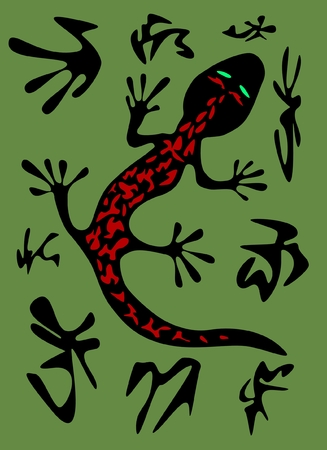 Salamander in camouflage with blotches vector  Vector