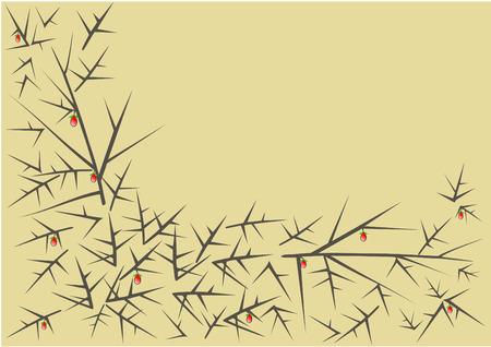 thorn bush: Thorn pattern vector