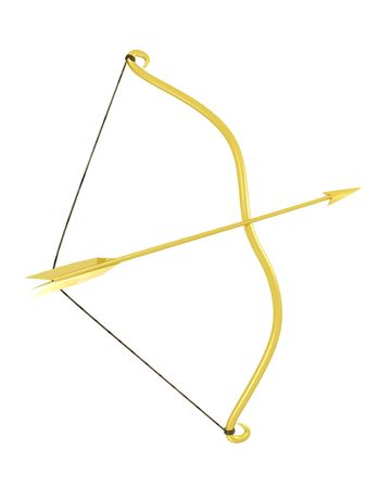 3d rendered bow with arrow